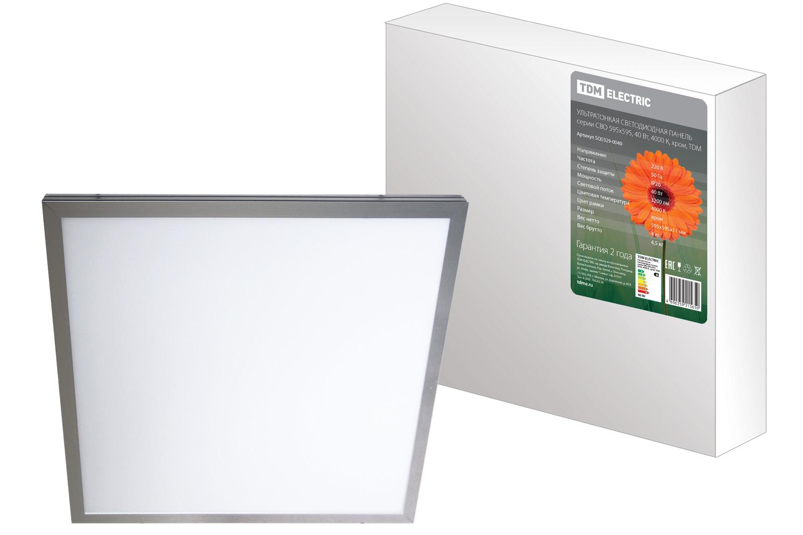 Ультратонкая светодиодная панель