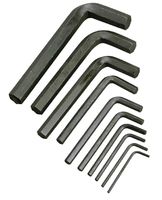 Набор DEXX: Ключи имбусовые, оксидированные, на кольце, 10 пр. (27403-H10)