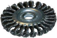 Щетка-крацовка диск скрученный ворс 125х22(DEXX)