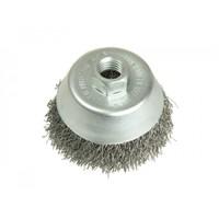 Щетка-крацовка чашка металлическая проволока, 125 мм(DEXX)
