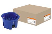 Установочная коробка СП D65х45мм,синяя, IP20,TDM
