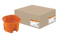 Установочная коробка СП D65х45мм,оранжевая, IP20, TDM