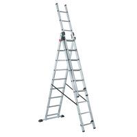 Лестница 3-х секционная алюминиевая, 3х7 ступеней