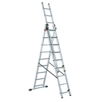 Лестница 3-х секционная алюминиевая, 3х15 ступеней SARAYLI
