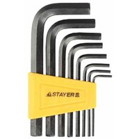 "Набор ключи STAYER ""STANDARD"" имбусовые, 2 - 10 мм, 8 шт (27405-H8)"