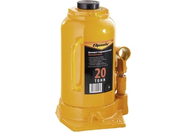 Домкрат гидравлический бутылочный, 20 т, h подъема 250-470 мм SPARTA (50328)