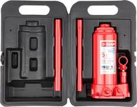 Домкрат ЗУБР гидравлический бутылочный в кейсе, 5 т, 216-413 мм (43060-5-K)