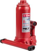 Домкрат ЗУБР гидравлический бутылочный, 8 т, 230-457 мм (43060-8)