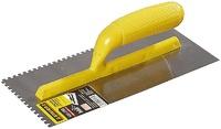 Гладилка STAYER с пластмассовой ручкой, зубчатая, 4x4 мм, 120x280 мм (08012-04)