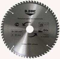 """Пильный диск по алюминию, 230х30(25,4) Z64, (арт. 9k-412306405d) """"D.BOR"""""""