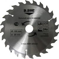 """Пильный диск по дереву, 150х20(16) Z24, (арт. 9k-801502405d) """"D.BOR"""""""