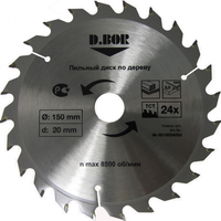 """Пильный диск по дереву, 150х20(16) Z36, (арт. 9k-801503605d) """"D.BOR"""""""