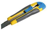 Нож пистолетный пластик с лезвием 18 мм упрочненный (обрезиненный)