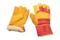 Перчатки замшевые комбинированные утепленные