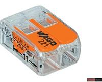 Клемма соединительная Wago 221-412 2х0,08-4мм2 прозрачная