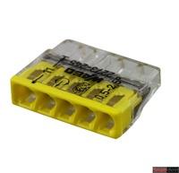 WAGO клемма 2273-205 без пасты на 5 проводов плоская