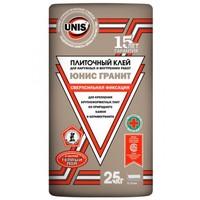Клей плиточный сверхсильная фиксация Юнис Гранит, 25 кг