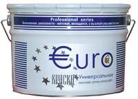 Краска EURОкраска универсальная, белоснежная, акриловая, для внутренних работ, 10 л