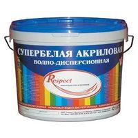 Краска RESPECT акриловая супербелая, 14 кг