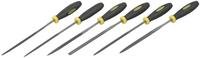 """Набор STAYER """"PROFI"""": Напильники с двухкомпонентной рукояткой, плоский, трехгранный, круглый, №2, 150 мм"""