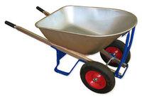 Тележка строительная усилен. 2-колесная оцинкованный кузов, 160 л (250 кг)