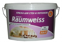 Краска акриловая для стен и потолков RAUMWEISS Интерьер+, 25 кг